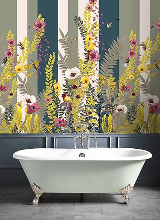 Good and Craft Tropical Bathroom Wallpaper