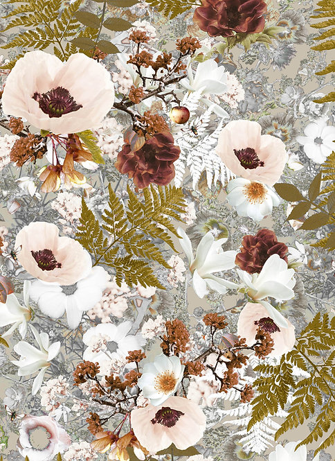 Wallpaper Sample - Morning Glory - Powder