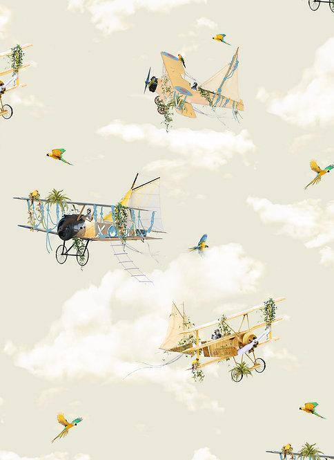 The Aviators wallpaper - Light Sage