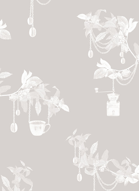 Wallpaper Sample - Coffee Tree - Ivory