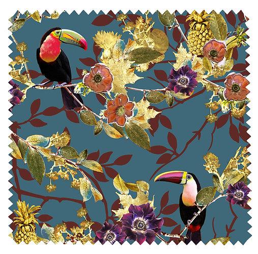 Rio Large - Velvet Fabric - Laguna