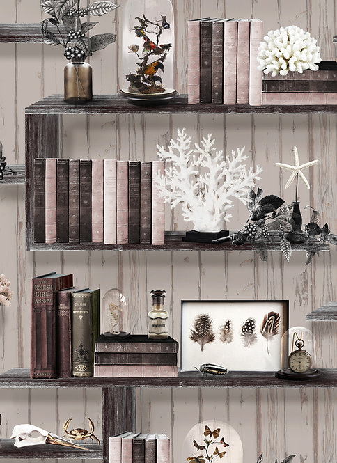 Curiosity Cabinet wallpaper - Natural