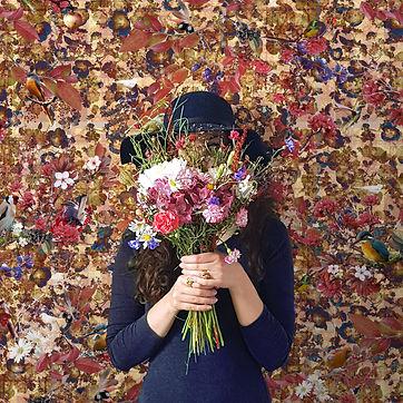Danja Good floral wallpaper with bird print by Good & Craft