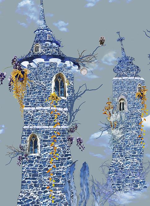 Castle in the Sky wallpaper - Sky Blue