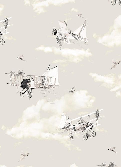 Wallpaper Sample - The Aviators - Vintage Ivory