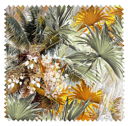 Palm Leaf fabric pattern with tropical print by Good and Craft, Good & Craft