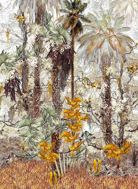 Rainforest print for Jungle Mural Wallpaper by Good and Craft, Good & Craft