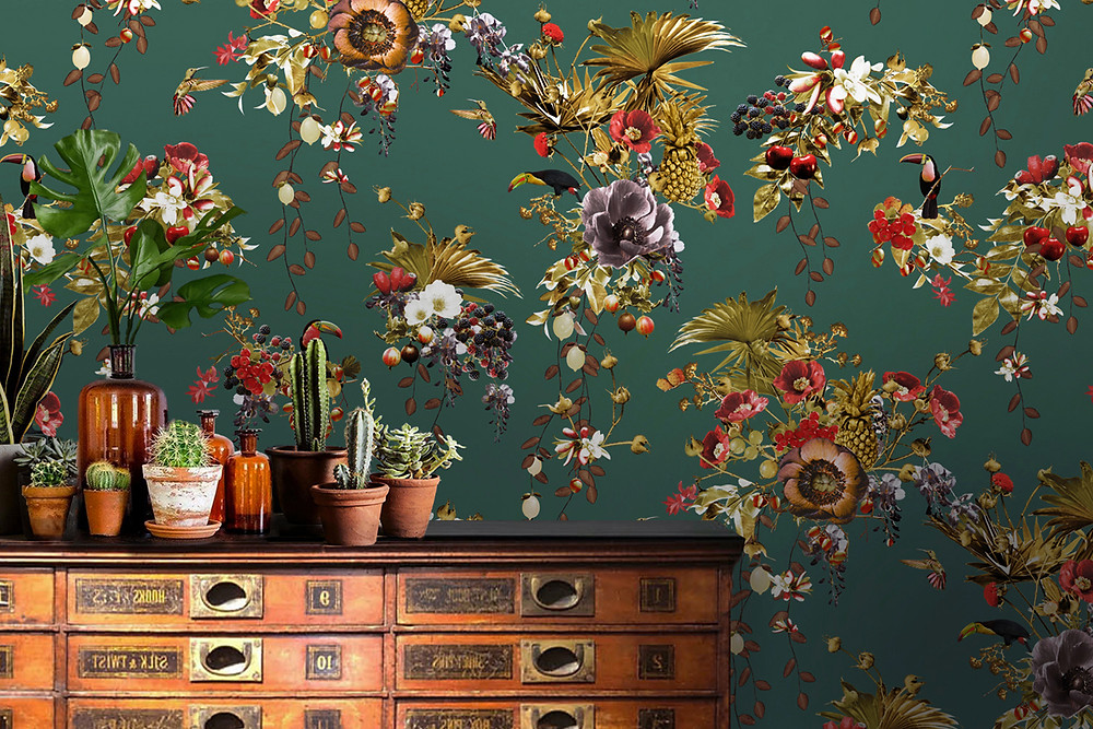 Tropical wallpaper with toucans by Good and Craft, Good& Craft