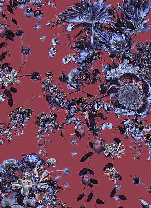 Secret Garden wallpaper - Raspberry