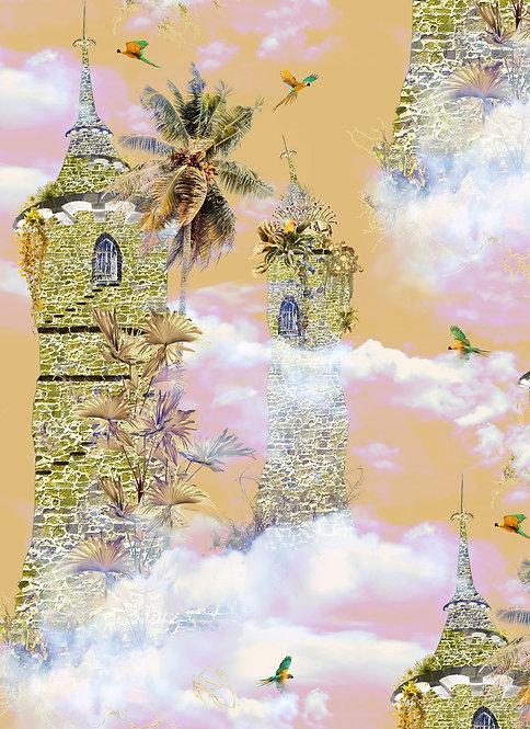 Wallpaper Sample - Secret Tower - Turmeric
