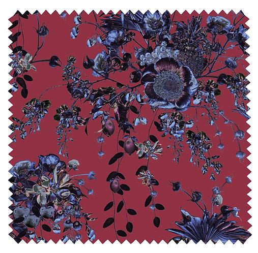 Secret Garden - Velvet Fabric - Raspberry