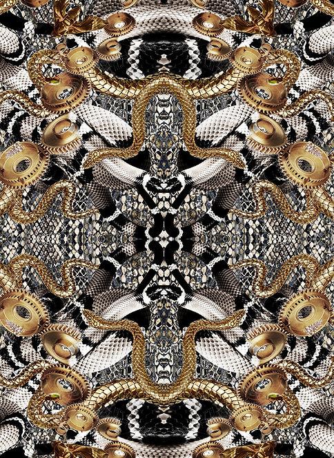 Golden Snake wallpaper - Gold