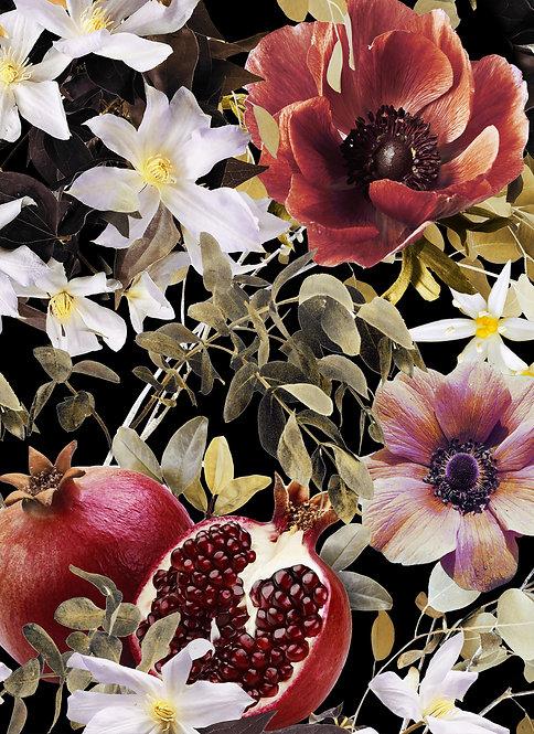 Fruits Blossom wallpaper - Midnight