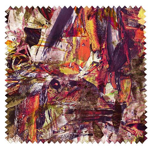 Abstract Paint - Velvet Fabric - Unique