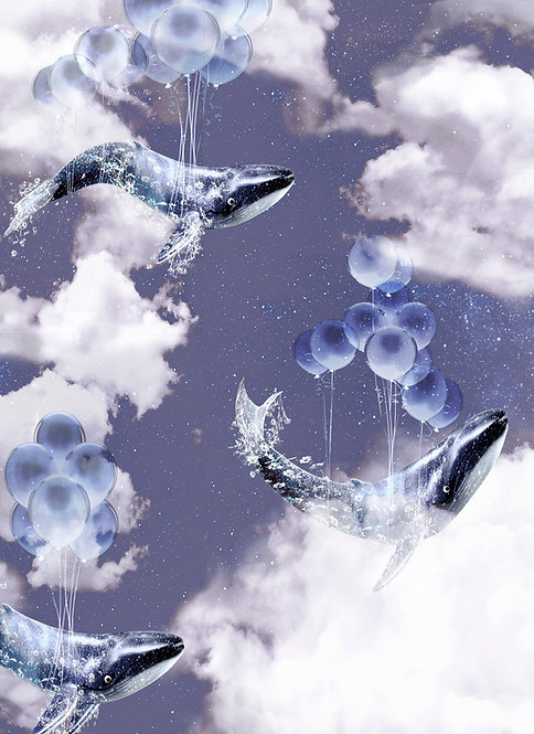 Flying Whales wallpaper - Midnight
