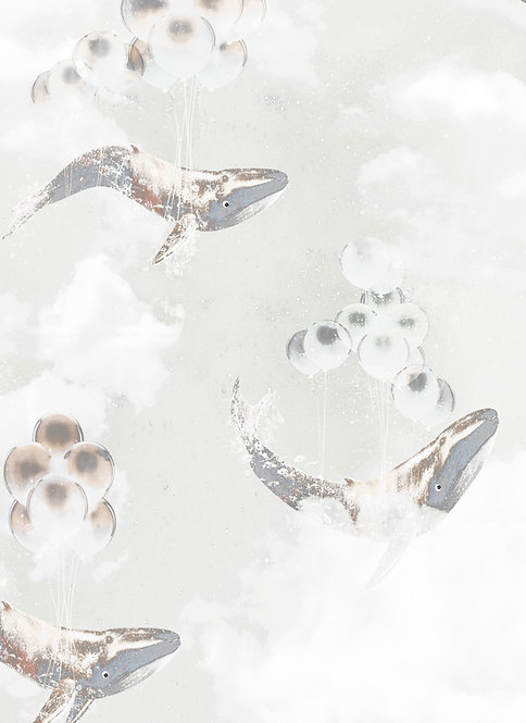 Wallpaper Sample - Flying Whales  - Star Dust
