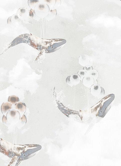 Flying Whales wallpaper - Star Dust