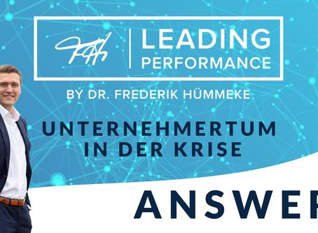 CORONA-Krise - Leading Performance Answers: Unternehmertum in der Krise