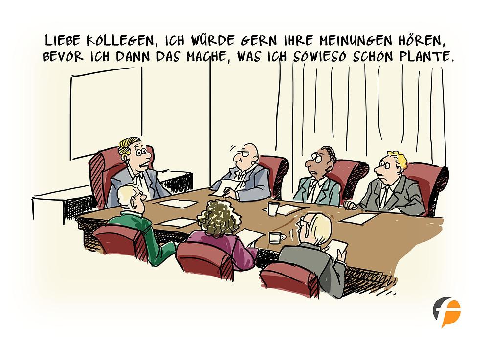 Der Chef im Meeting