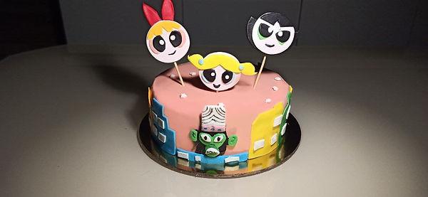 Fondent Powerpuff Girls cake