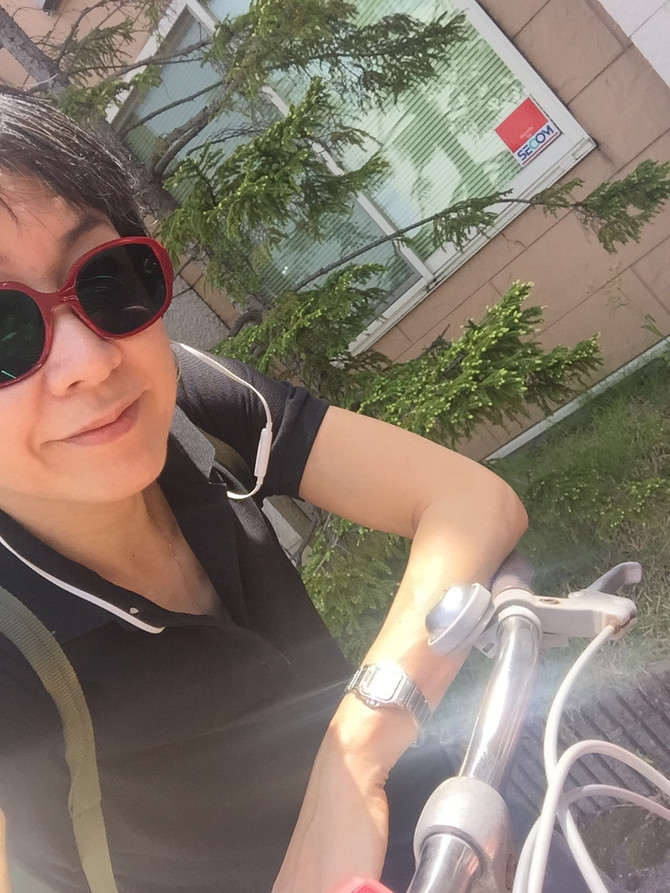 My love bicycle calling Jaguar, LOL.        私の自転車、ジャガーと呼んでます(笑)