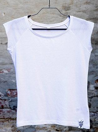 Bamboo Shirt -  Raglan White