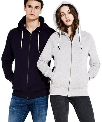 Unisex Organic Zip Up Hood