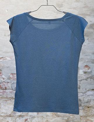 Bamboo Shirt -  Raglan Blue