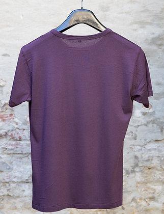 Bamboo - T-Shirt  Men Eggplant