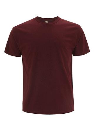 Bio Baumwolle T-Shirt Burgundy