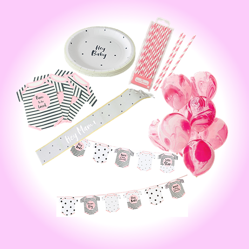 Pink Baby Shower Party Pack