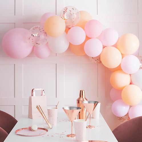 Peach and Pink Balloon Arch