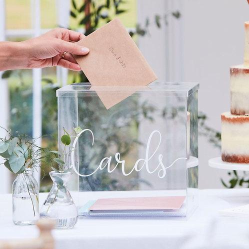 Acrylic Cards Box