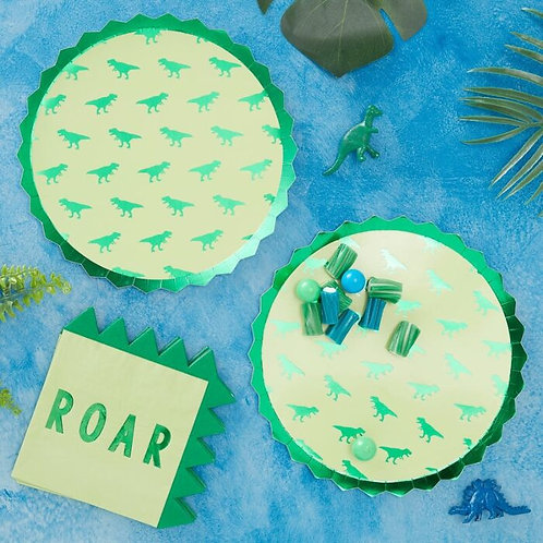 T -Rex Dinosaur Party Plate