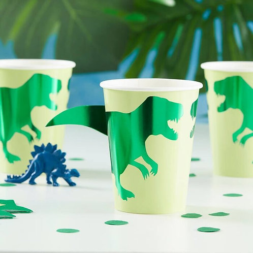 T - Rex Dinosaur Party Cups