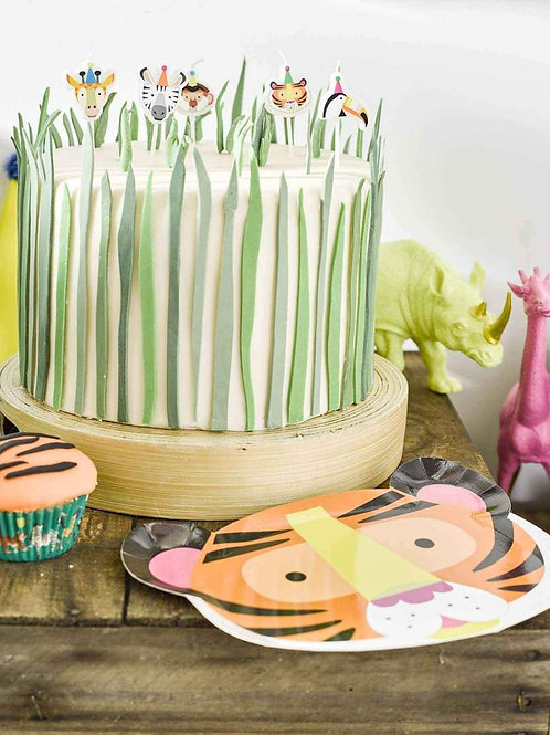 Party Animal Party Plates Zebra / Tiger