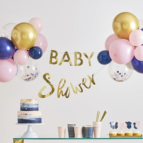 Baby Shower Balloons and Bunting Set
