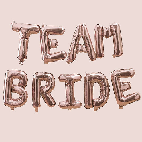 Rose Gold Team Bride Balloons