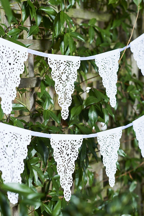 White Paper Flag Bunting