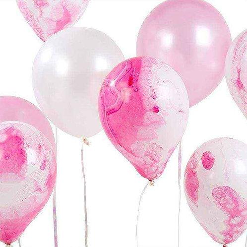 Pink Marble Balloon Assortment