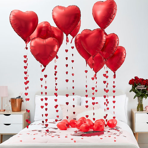 Red Heart Valentines Decoration Balloon Kit