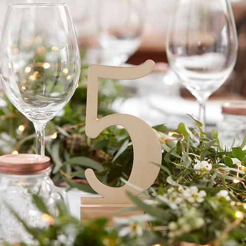 Wooden Wedding Table Numbers 1-12