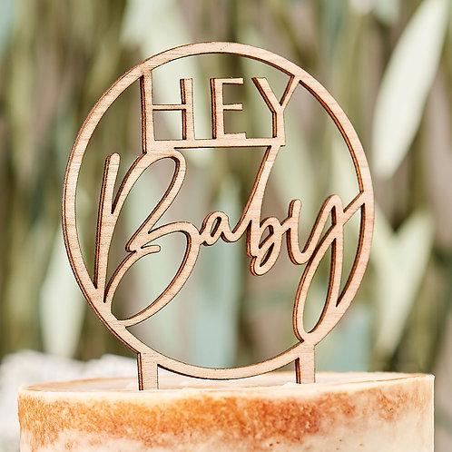 Baby Shower Cake Topper 'Hey Baby'