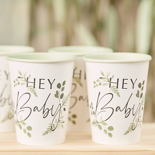 Baby Shower Cups 'Hey Baby'