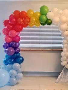 Rainbow Balloon Frame Arch