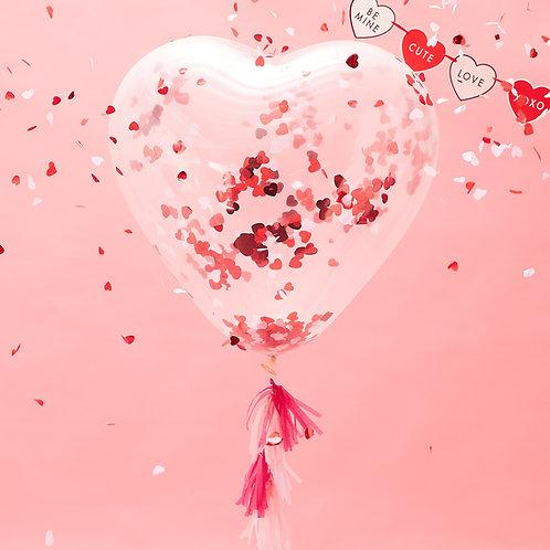 Giant Heart Shaped Confetti Balloons