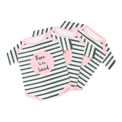 Pink Baby Grow Shaped Napkins