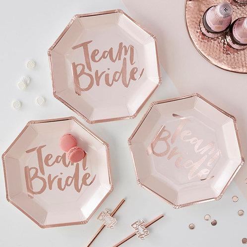 Team Bride Hen Party Plates