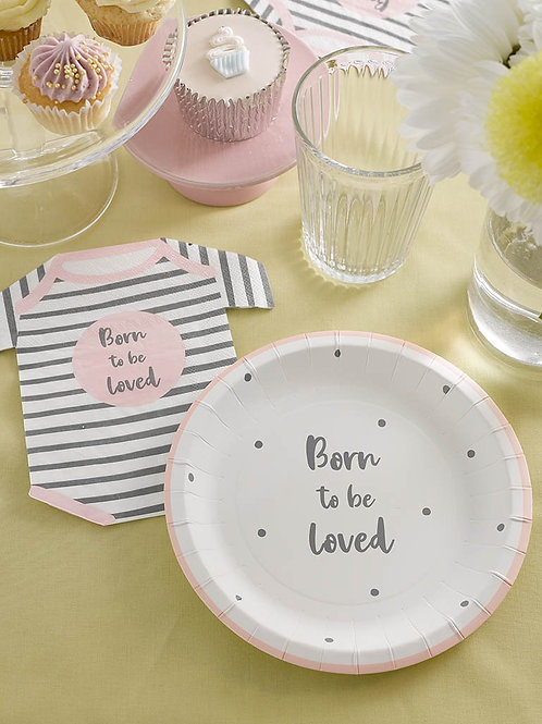 Pink Baby Shower Plate
