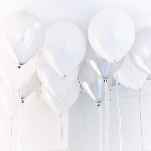 Silver & White Balloon Assortments
